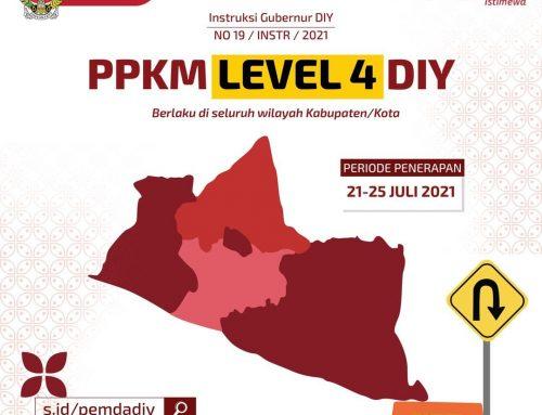 Instruksi Gubernur DIY No. 19/2021 tentang PPKM Level 4 di Daerah Istimewa Yogyakarta